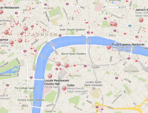 Good Food Guide 2015 – Top 50 Restaurant Map